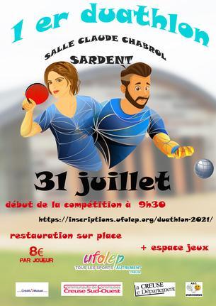 Affiche DUATHLON - 31 July