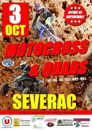 Affiche Motocross et Quad à Sévérac - 3 October
