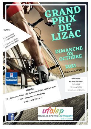 Affiche GRAND PRIX DE LIZAC - 3 October