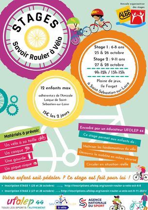 Affiche Savoir Rouler à Vélo Oct 9-11 ALSS - 27/28 October