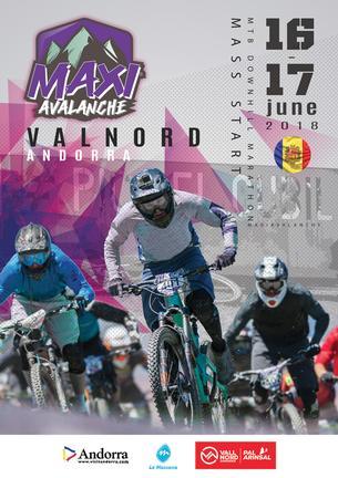 Affiche MAXIAVALANCHE Andorre - 16/17 June 2018