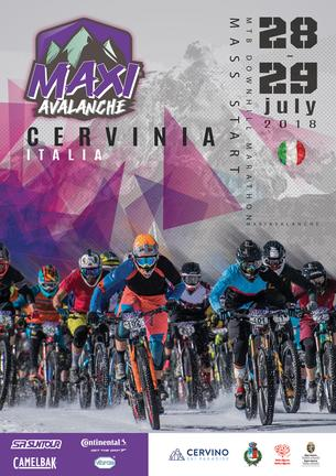Affiche Maxiavalanche CERVINIA - Italy - 28/29 July 2018