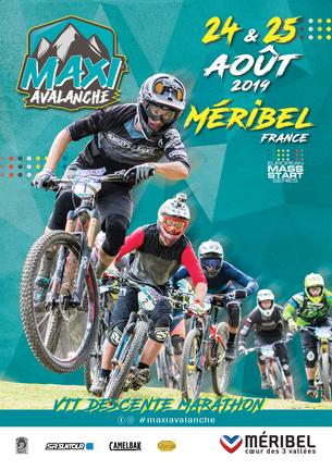 Affiche Maxiavalanche MERIBEL - France - 24/25 August 2019