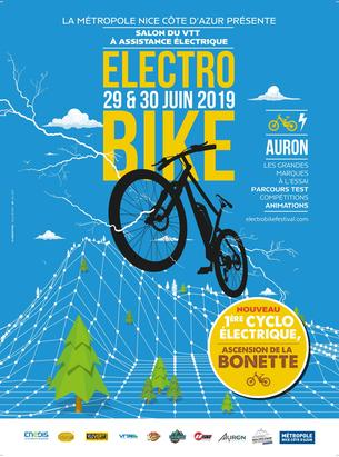 Affiche Cyclo Electrique - Ascension de la bonette - 30 June 2019