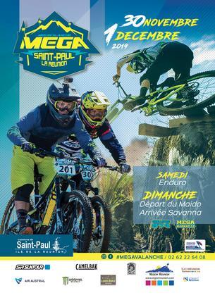 Affiche Voyage Mégavalanche Saint Paul - Ile de la Réunion - 22 November/2 December 2019
