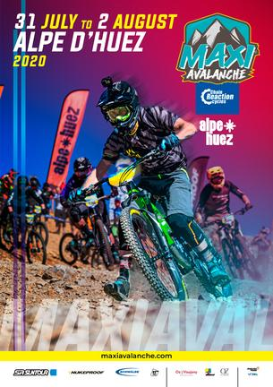 Affiche SUPER MAXIAVALANCHE ALPE D'HUEZ - 31 July/2 August