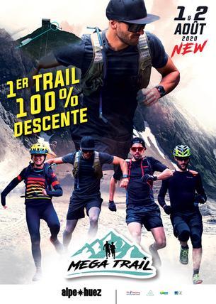 Affiche MEGA TRAIL ALPE D'HUEZ - 31 July/2 August