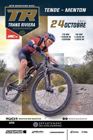 Affiche TRANSRIVIERA - Roya Bevera Menton - 24 October