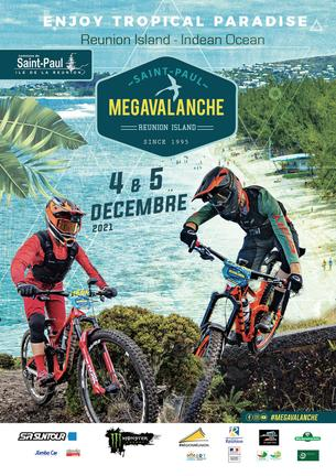 Affiche MEGAVALANCHE St Paul - Reunion Island - 4/5 December