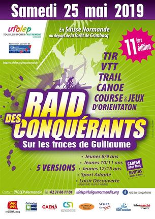 Affiche Raid des Conquérants - 11ème édition - 25 May 2019