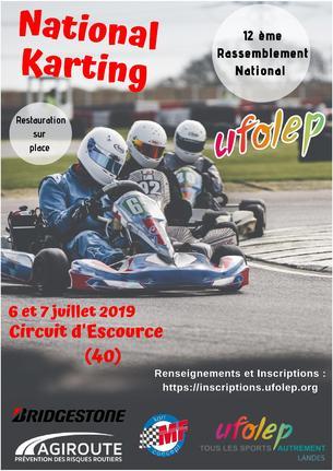 Affiche Rassemblement National Karting UFOLEP 2019 - 6/7 July 2019