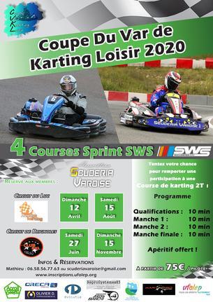 Affiche Coupe du Var de Karting Loisir Manche 3 Le Luc - 15 August