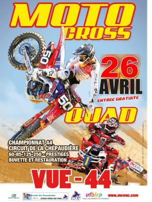 Affiche Moto Cross Départemental UFOLEP 44 - 25 April