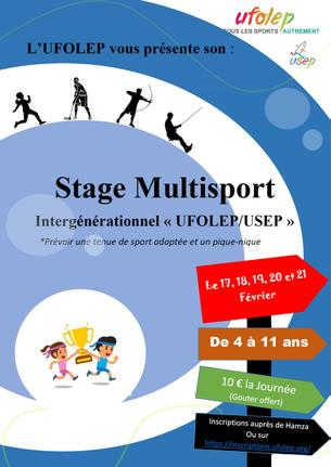 Affiche STAGE MULTISPORT UFOLEP/USEP (vendredi 21/02/2020) - 21 February