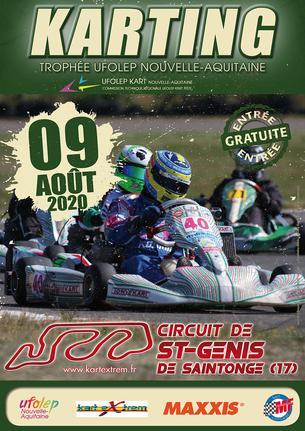 Affiche TROPHÉE UFOLEP KART NOUVELLE AQUITAINE 2020  SAINT GENIS DE SAINTONGE (17) - 9 August 2020