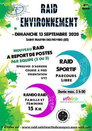 Affiche RAID ENVIRONNEMENT - 13 September 2020