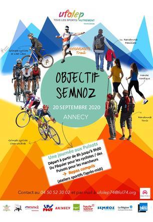 Affiche Objectif Semnoz 2020 - UFOLEP de Haute-Savoie - 20 September