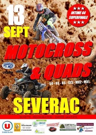 Affiche Motocross et Quads Sévérac - Intime Ufolep 44 - 13 September