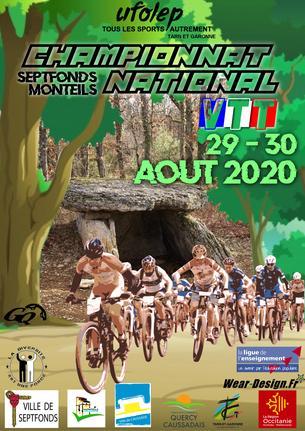 Affiche Championnat National VTT ufolep 2020 (initiation et VAE) - 29/30 August
