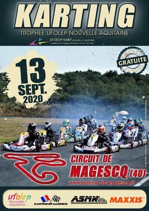 Affiche TROPHÉE UFOLEP KART NOUVELLE AQUITAINE 2020  MAGESCQ (40) - 13 September