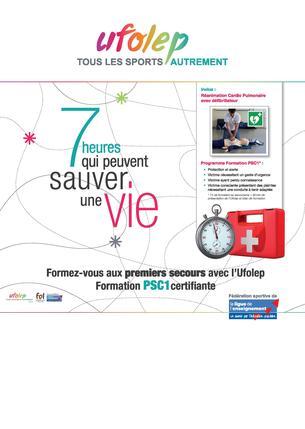 Affiche Formation PSC1 - UFOLEP Ardèche - 28 November