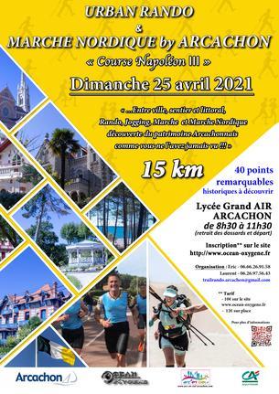 Affiche Urban Rando & Marche Nordique by Arcachon - 27 February 2022