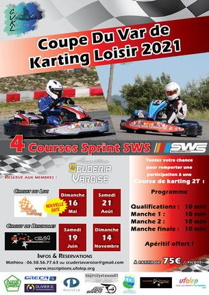 Affiche Coupe du Var de Karting Loisir Manche 1 Le Luc - 16 May