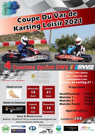 Affiche Coupe du Var de Karting Loisir 2021 Manche 3 Le Luc - 21 August
