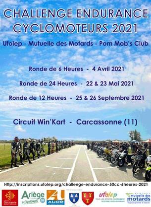 Affiche PMC Endurance 50cc - 6 Heures - 4 April