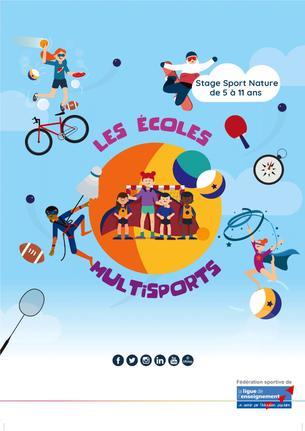Affiche stage multisport vacances de février - 22/26 February