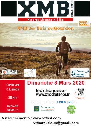 Affiche XM des Bois de Gourdon - 8 March 2020