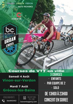 Affiche URBAN CROSS - Gréoux-les-bains - 7 August 2018