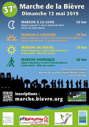 Affiche 37ème Marche de la Bièvre - 12 May 2019