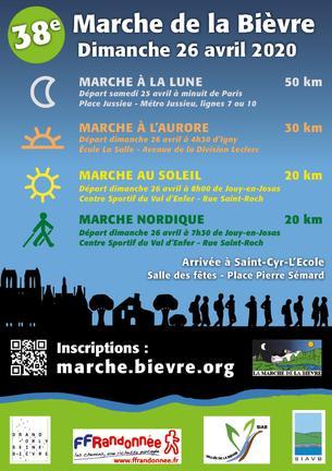 Affiche 38 ème Marche de la Bièvre - 26 April