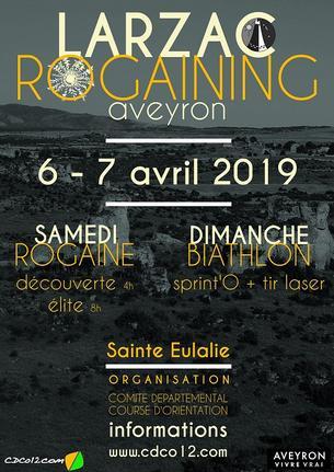 Affiche Rogaining Larzac – Biathlon CO - 6/7 April 2019