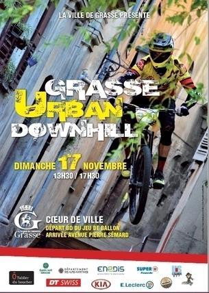 Affiche Grasse Urban Downhill - 17 November 2019