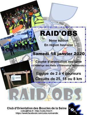 Affiche RAIDOBS 2020 - 18 January