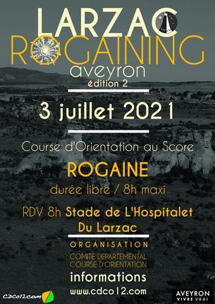 Affiche Rogaining Larzac - Biathlon CO - 3 July