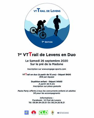 Affiche VtTrail de Levens - 26 September