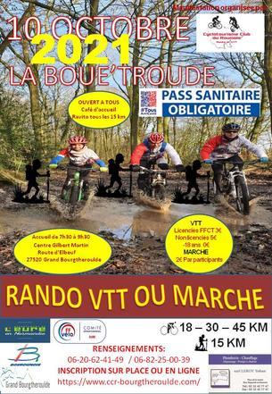 Affiche Rando VTT Marche La Boue'Troude - 10 October