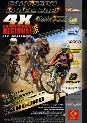 Affiche Randuro et Championnat 4X - Calvisson VTT - 19 December