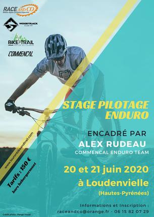 "Affiche Stage Pilotage Enduro ""Alex RUDEAU"" - 20/21 June"