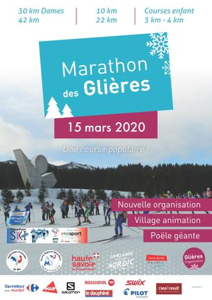 Affiche 34ème marathon des Glières - 15 March