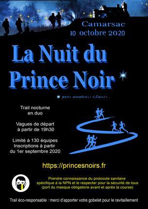Affiche Nuit du Prince Noir 2020 - 10 October 2020