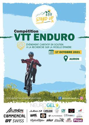 Affiche Stand Up enduro VTT d'Auron - 17 October