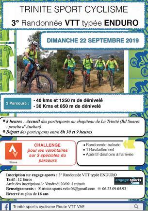 Affiche VTT rando-enduro de la trinité - 22 September 2019