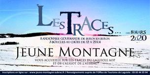 Affiche PARCOURS BRAMELOUP - Les Traces du Fromage Laguiole AOP et de l'Aligot de l'Aubrac - 18 km - 8 March
