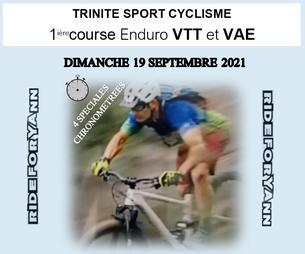 Affiche ENDURO VTT TRINITE SPORT - RIDE FOR YANN - - 19 September