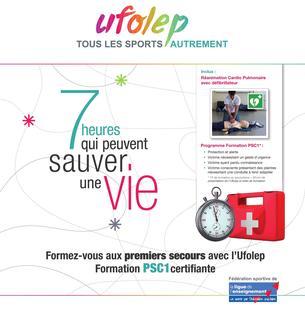 Affiche Formation secourisme UFOLEP 44 - 12 December