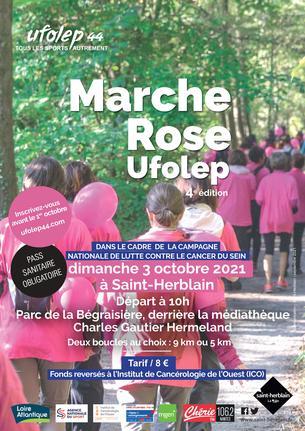 Affiche Marche Rose UFOLEP 2021 - 3 October